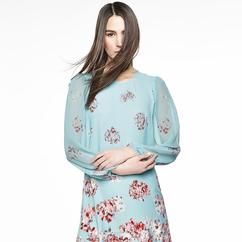 BCBGMAXAZRIA Bailee Floral-Print Dropped-Waist Dress