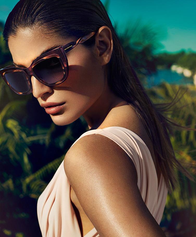 Balenciaga Twisted Square Sunglasses