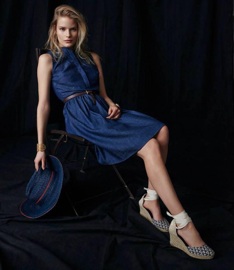 Barneys New York Sleeveless Denim Dress