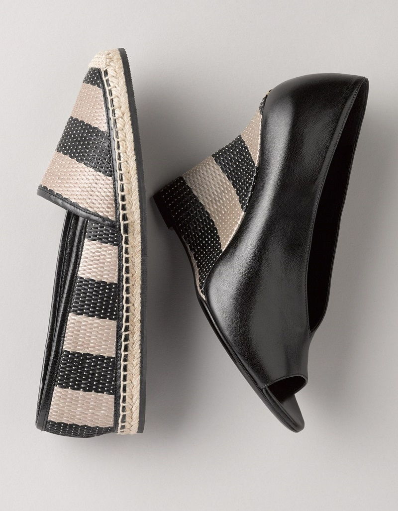 Burberry 'Reyard' Sculpted Wedge Peep Toe Sandal