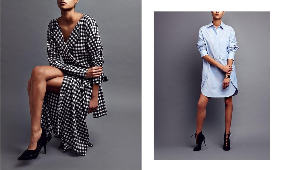 Chloé Gingham cotton wrap dress