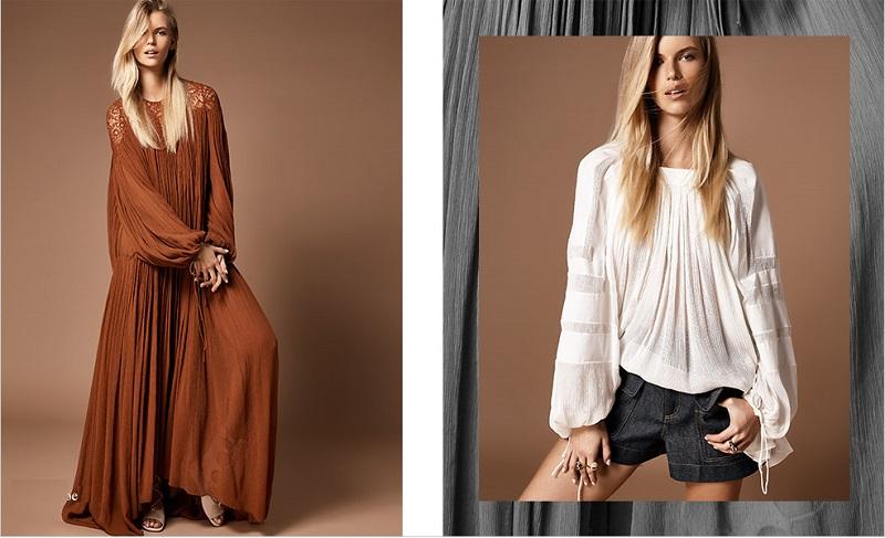 Chloé Lace-yoke drop-waist maxi dress