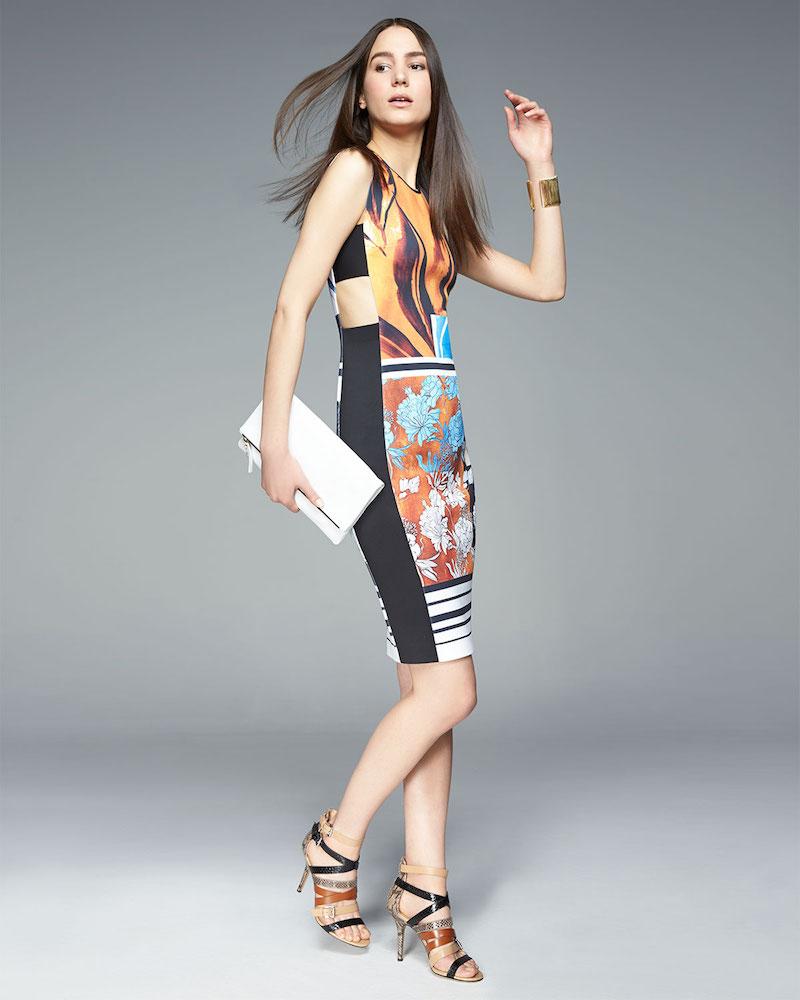 Clover Canyon Burmese Dream Printed Cutout Dress