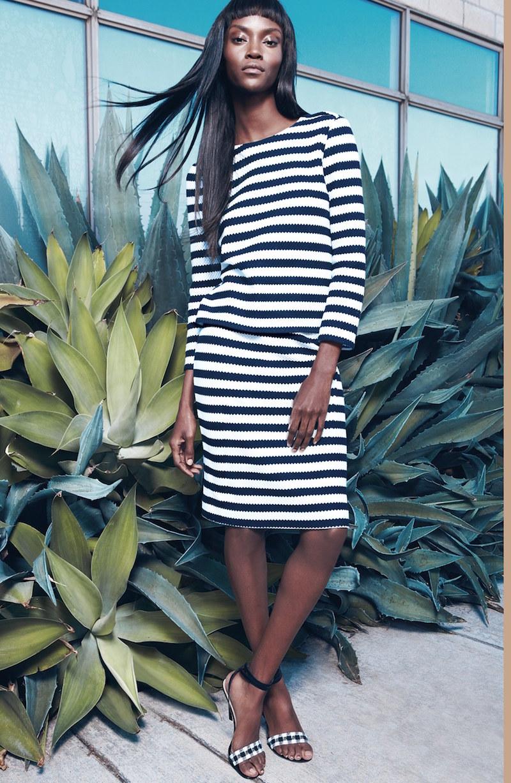 Diane von Furstenberg Giselle Stripe Cotton Top