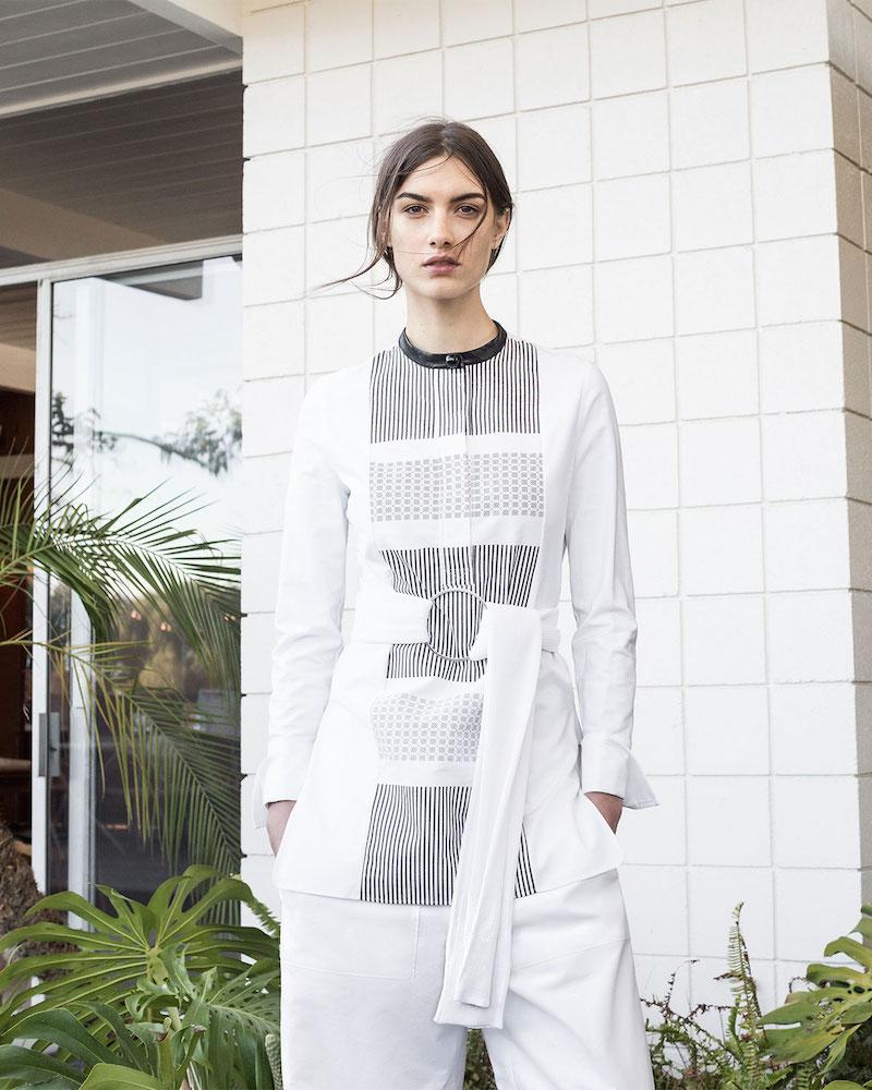 Edun Grid-Print Hand-Woven Tunic