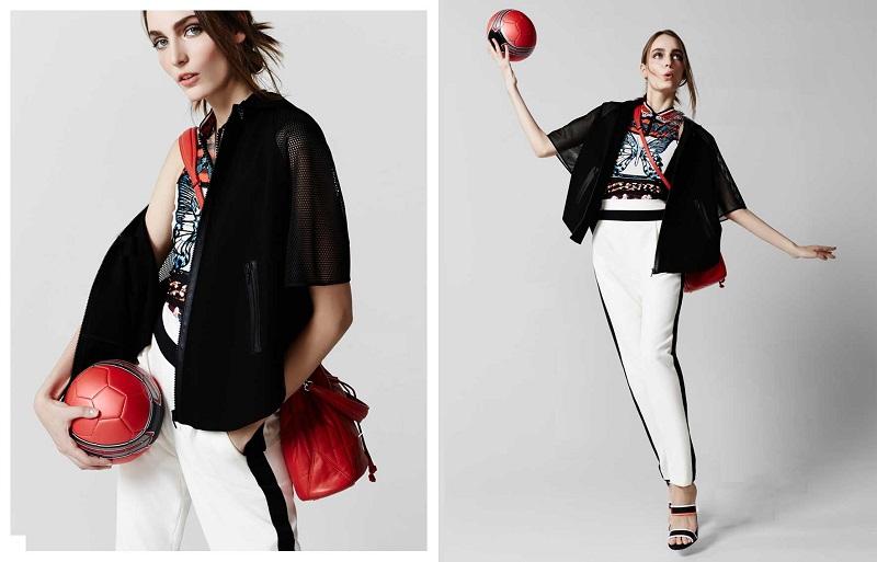 Elie Tahari Caitlin Hooded Mesh-Sleeve Zip-Front Jacket