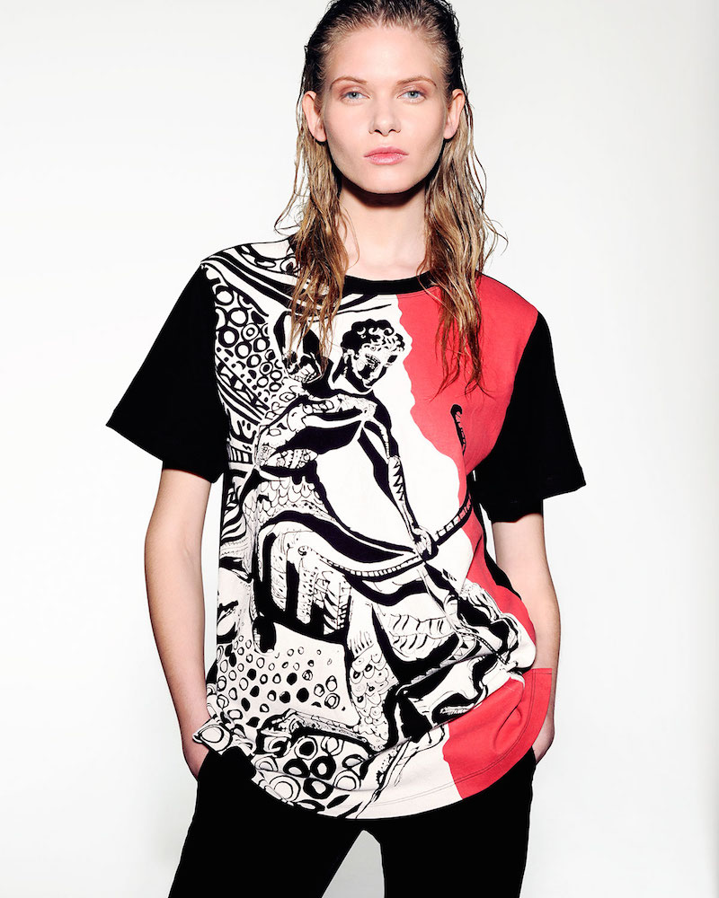 Emilio Pucci Sagittarius Graphic-Print Sheer-Back T-Shirt