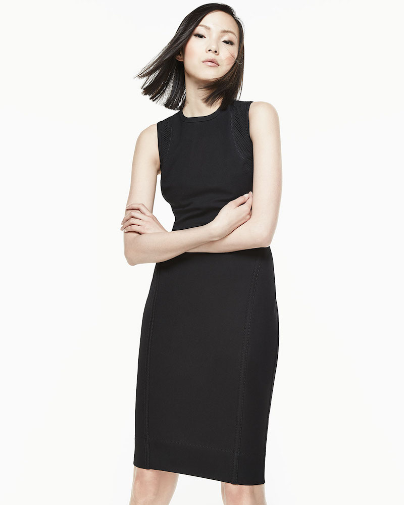 Helmut Lang Compressed Twill Strappy-Back Dress