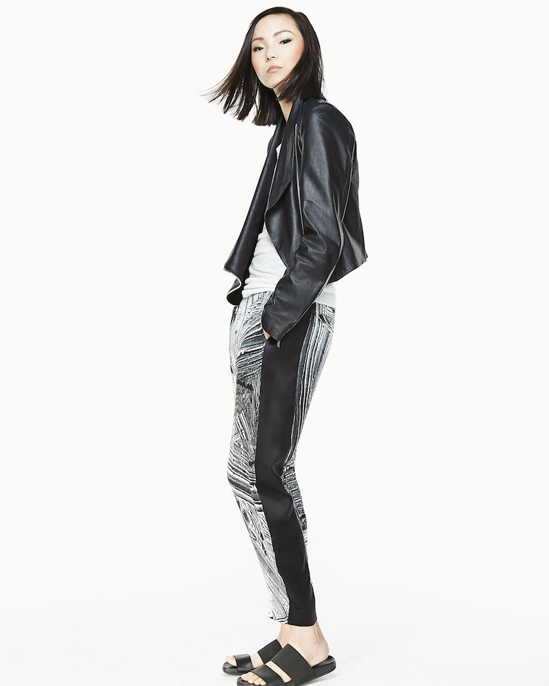 Helmut Lang Kiln Draped Leather Jacket