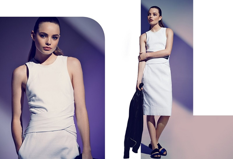 Helmut Lang Rippled Cotton Dress