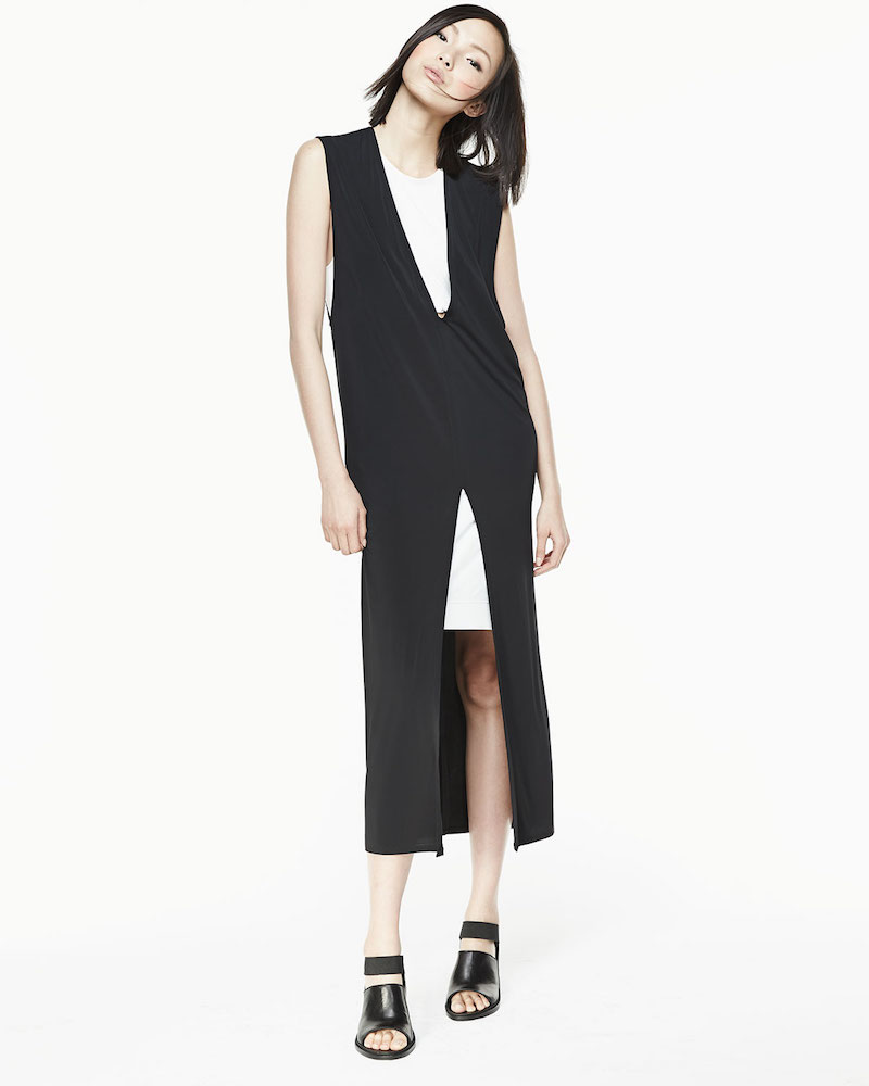 Helmut Lang Two-Tone Layered Dress