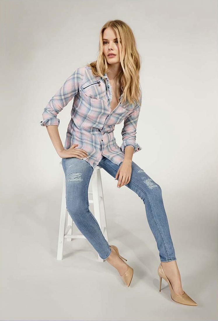Hudson Jeans Nico Distressed Skinny Stretch Jeans