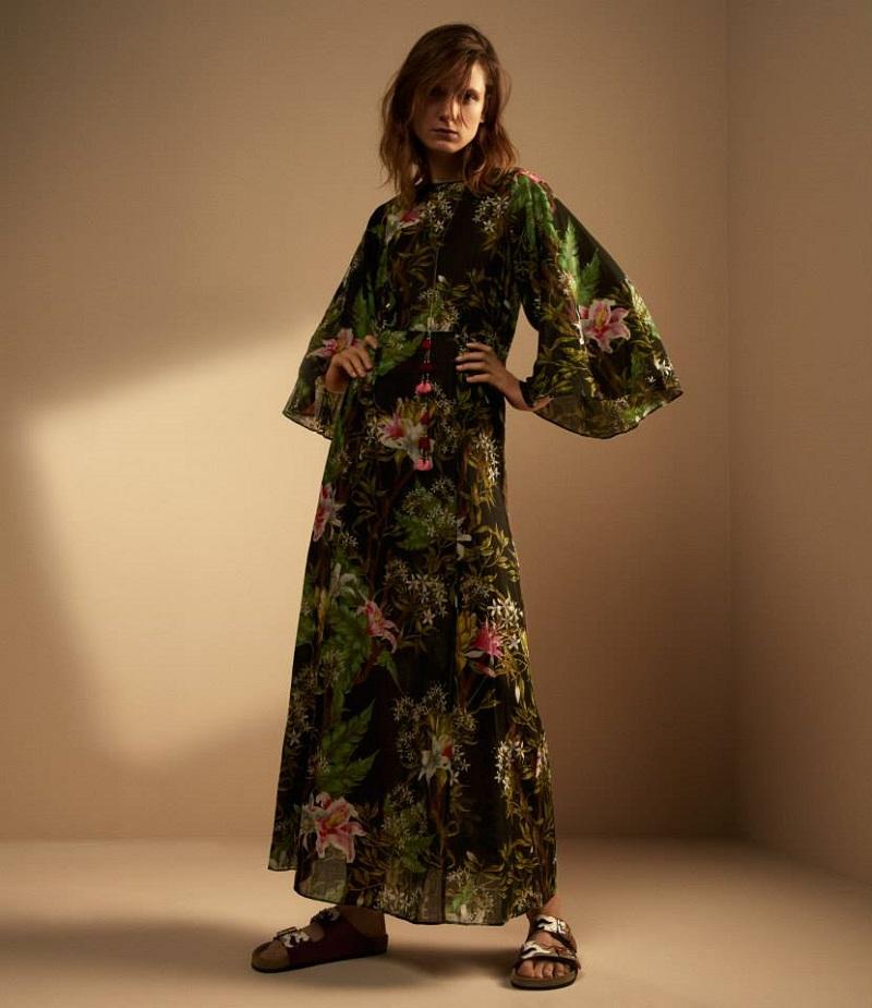 Isabel Marant Étoile Floral Voile Wanda Maxi Dress