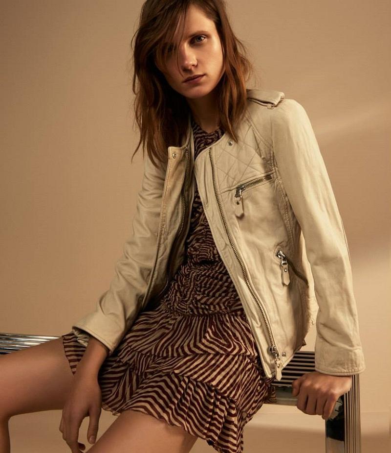 Isabel Marant Étoile Kady Washed Leather Moto Jacket