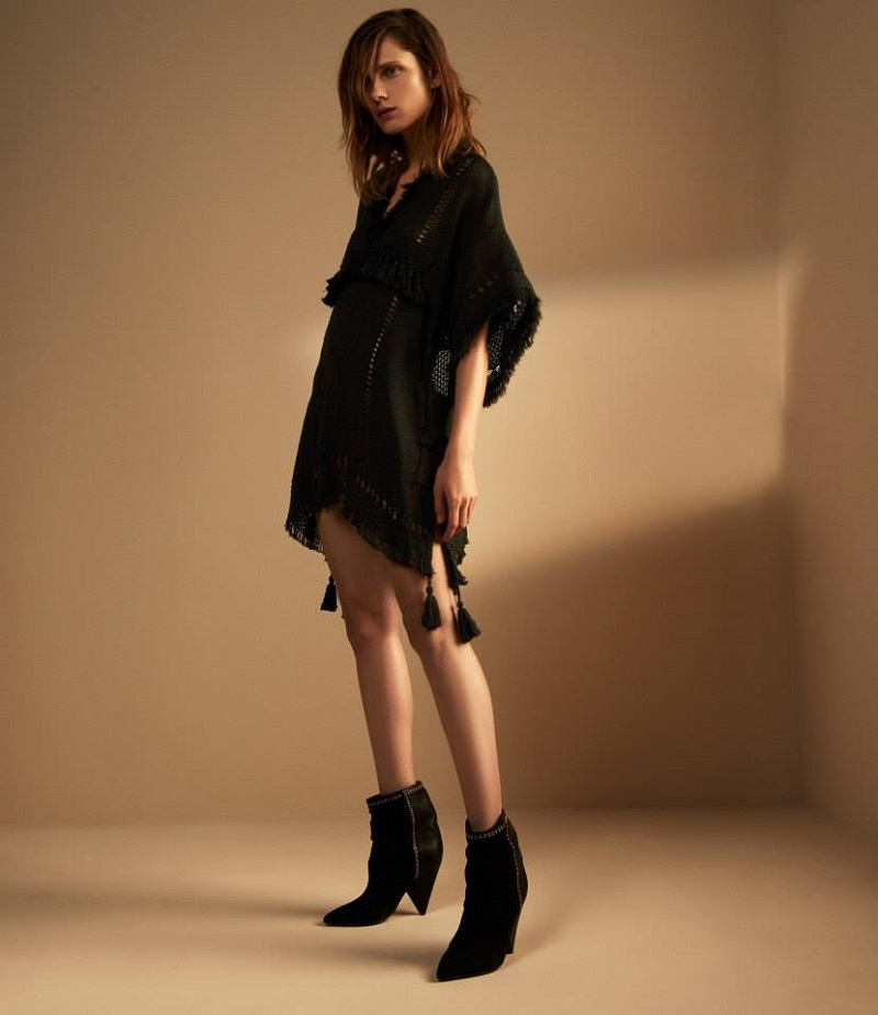 Isabel Marant Suede & Leather Lance Ankle Boots