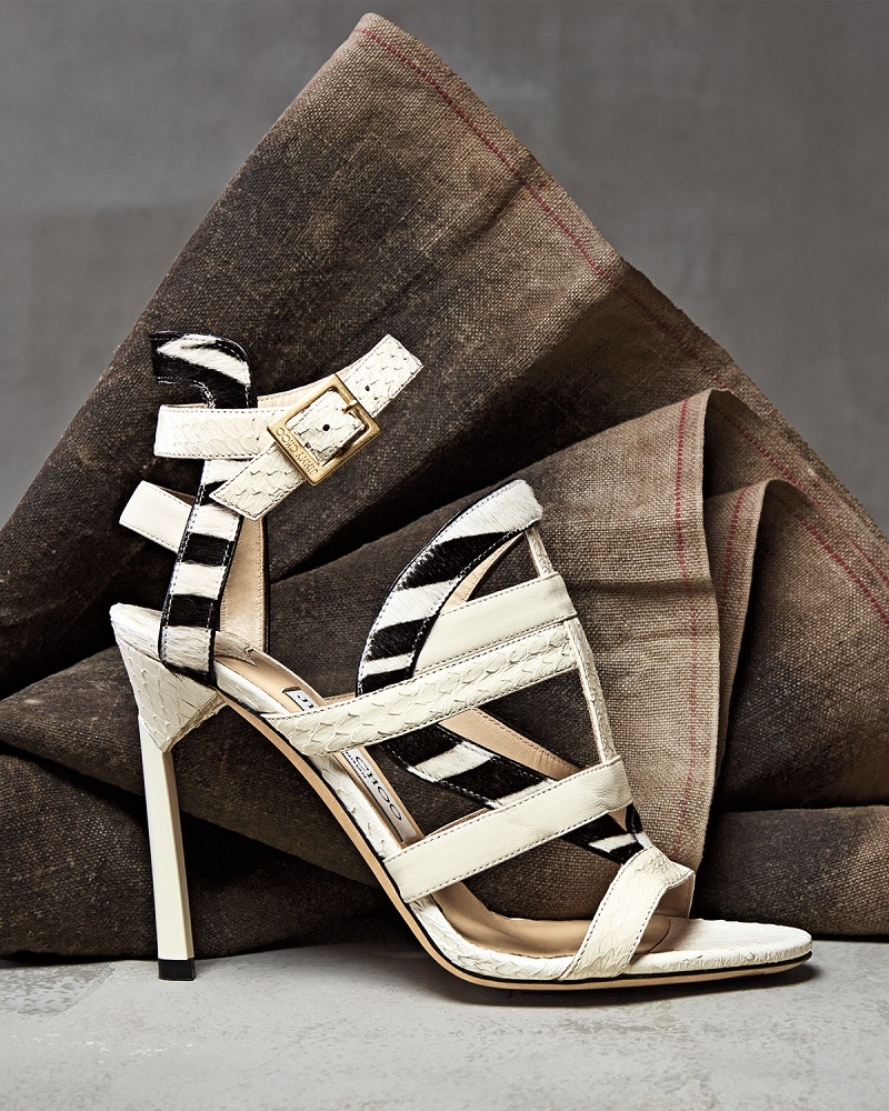 Jimmy Choo Vanquish Mixed-Media Strappy Sandal