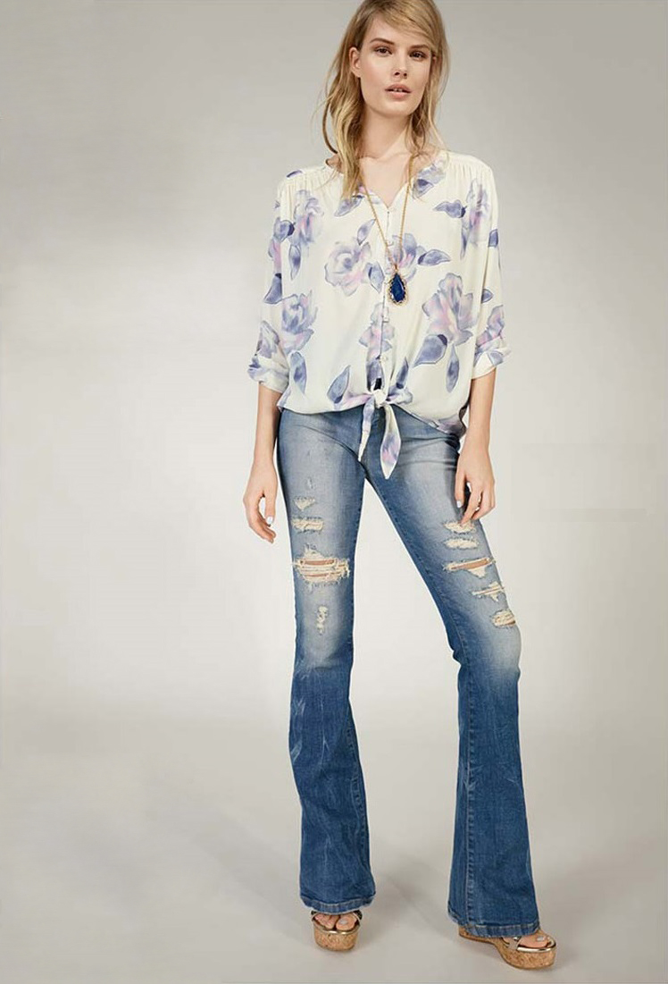Joes Destructed Flare Jeans