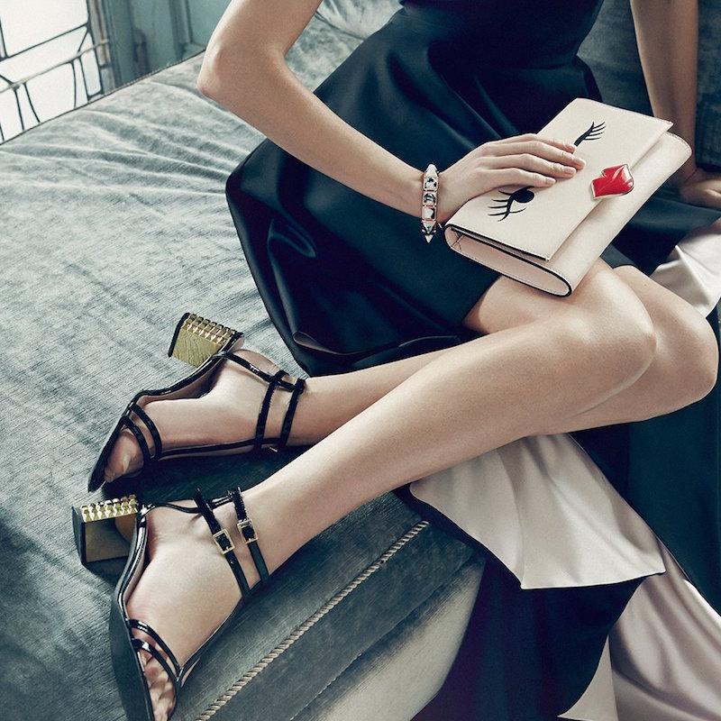 Kate Spade New York Mercury Metallic-Heel Sandals