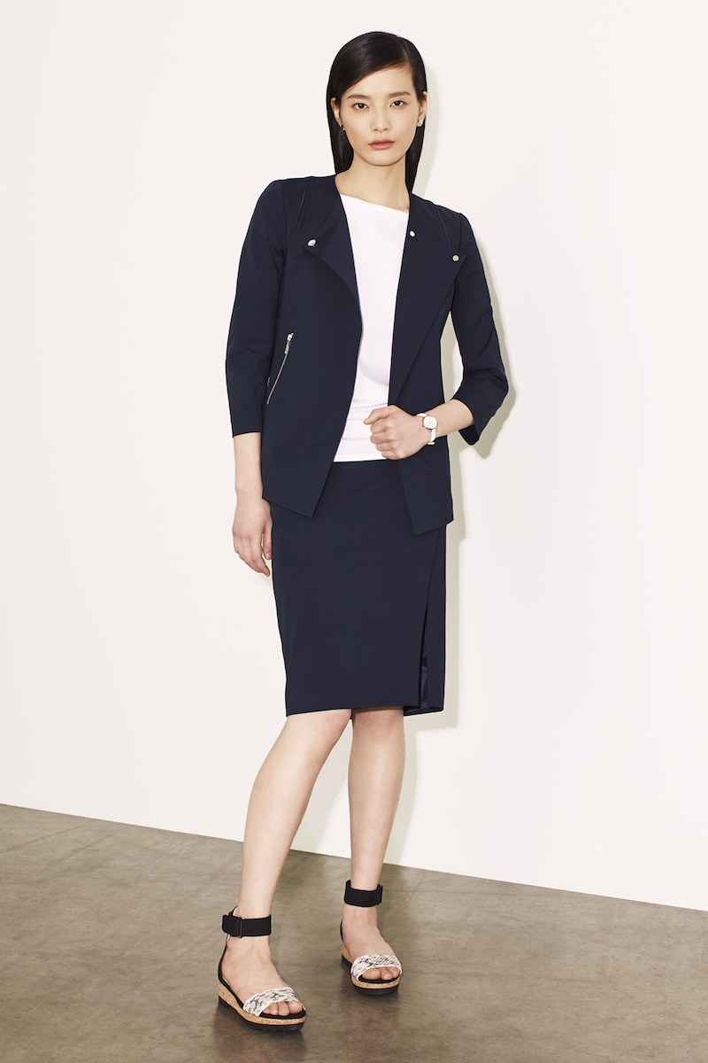 Lafayette 148 New York Dayle Snap Front Jacket