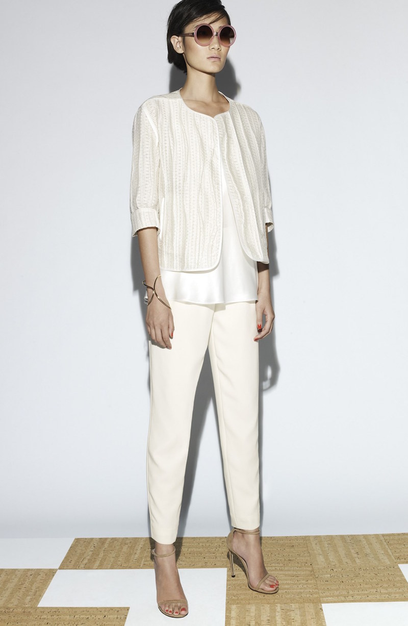 Lafayette 148 New York Pleat Front Crepe Ankle Pants