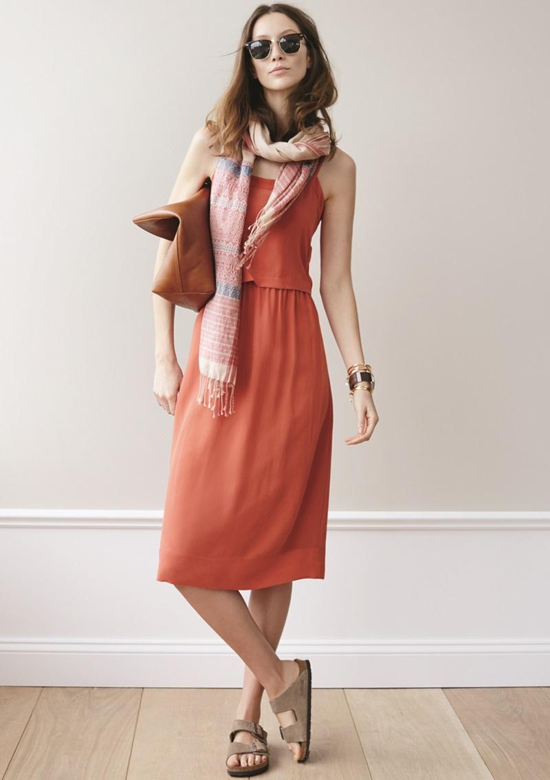 Madewell Overlay Silk Slipdress