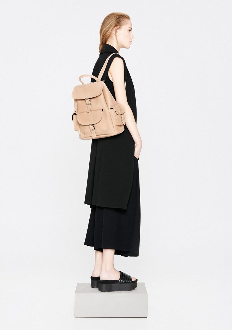 Mango Faux leather backpack