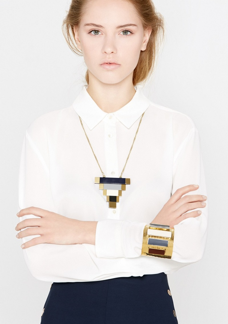 Mango Geometric pendant necklace