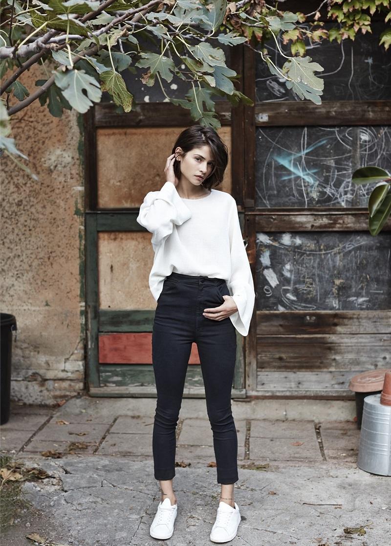 Mango PREMIUM - High waist jeans