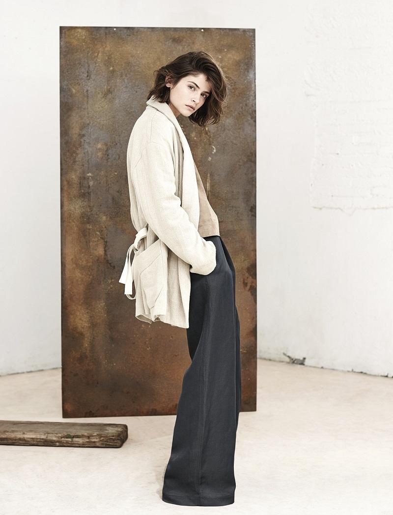 Mango PREMIUM - Pleated linen-blend trousers