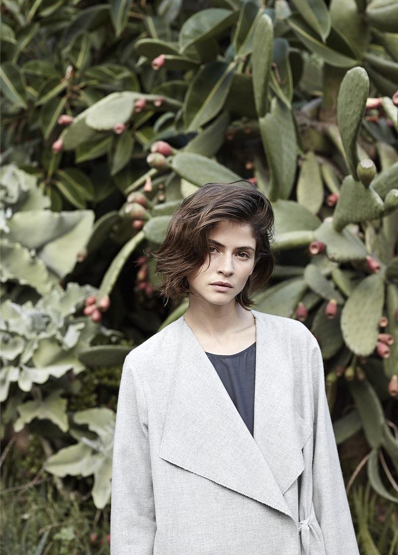 Mango PREMIUM - Unstructured wool-blend coat