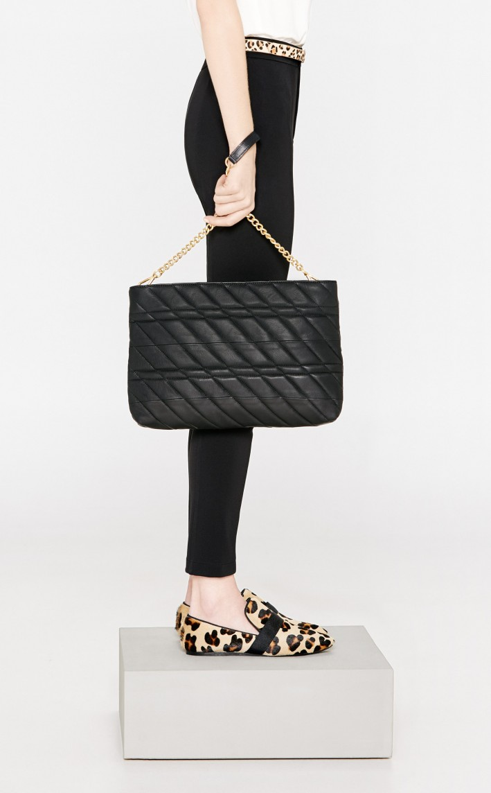 Mango Quilted leather bag