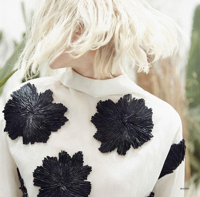Marni Embroidered Flower Smock Top_