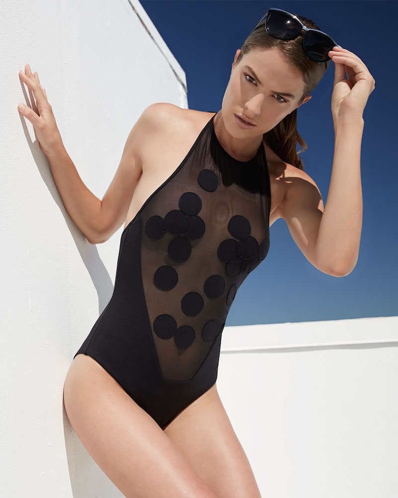Marysia Dotted Mesh One-Piece Swimsuit