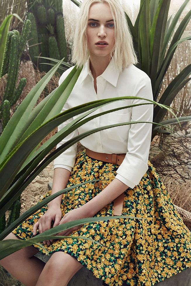 Michael Kors Embellished Floral Skirt