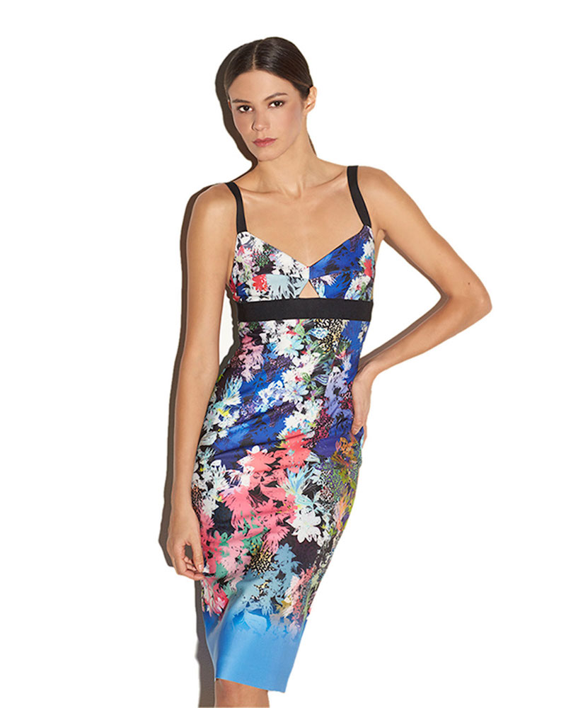 Milly Floral Ombre Sheath Dress