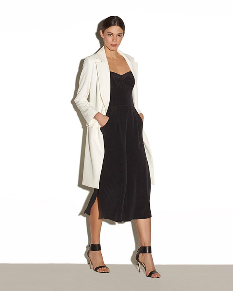 Milly Strapless Silk Stretch Jumpsuit