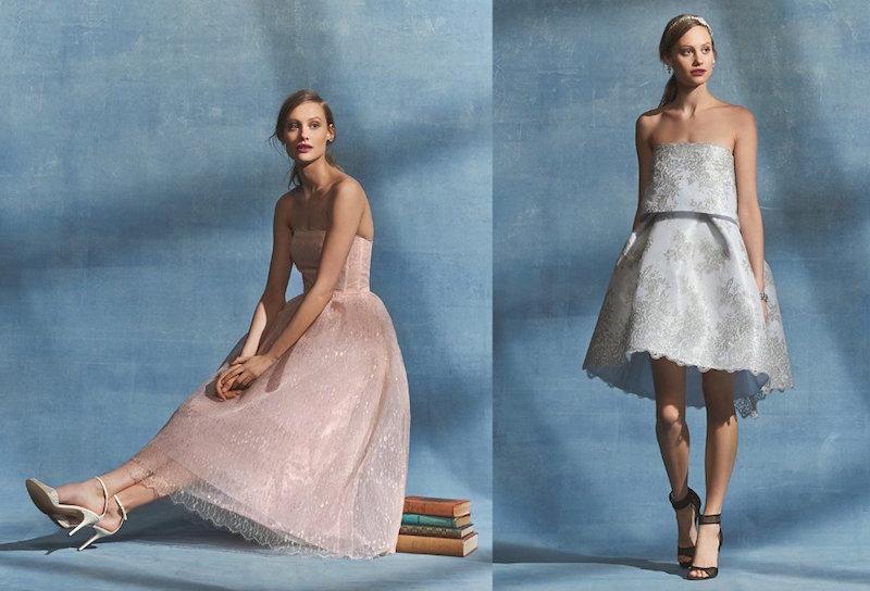 Monique Lhuillier Folded Bodice Lace Dress