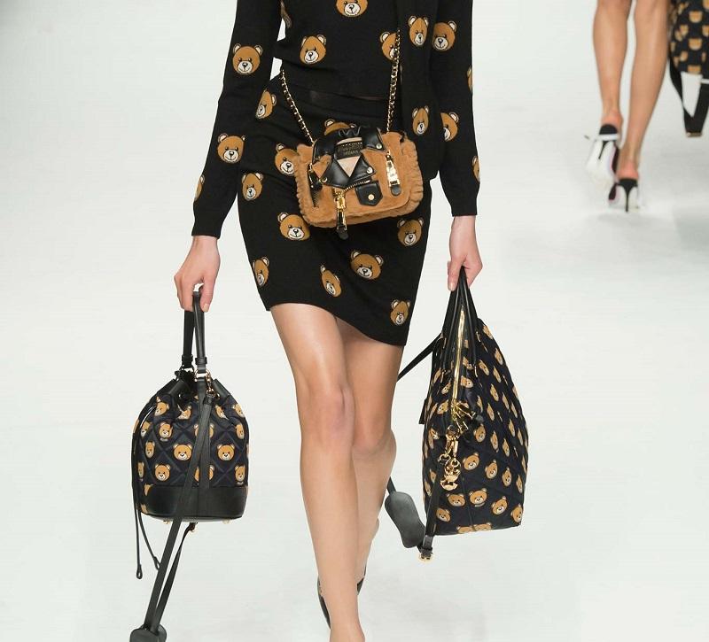 Moschino Sleeveless Printed Knit Dress