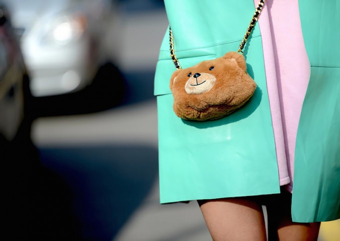 Moschino Teddy Bear Plush Mini Shoulder Bag