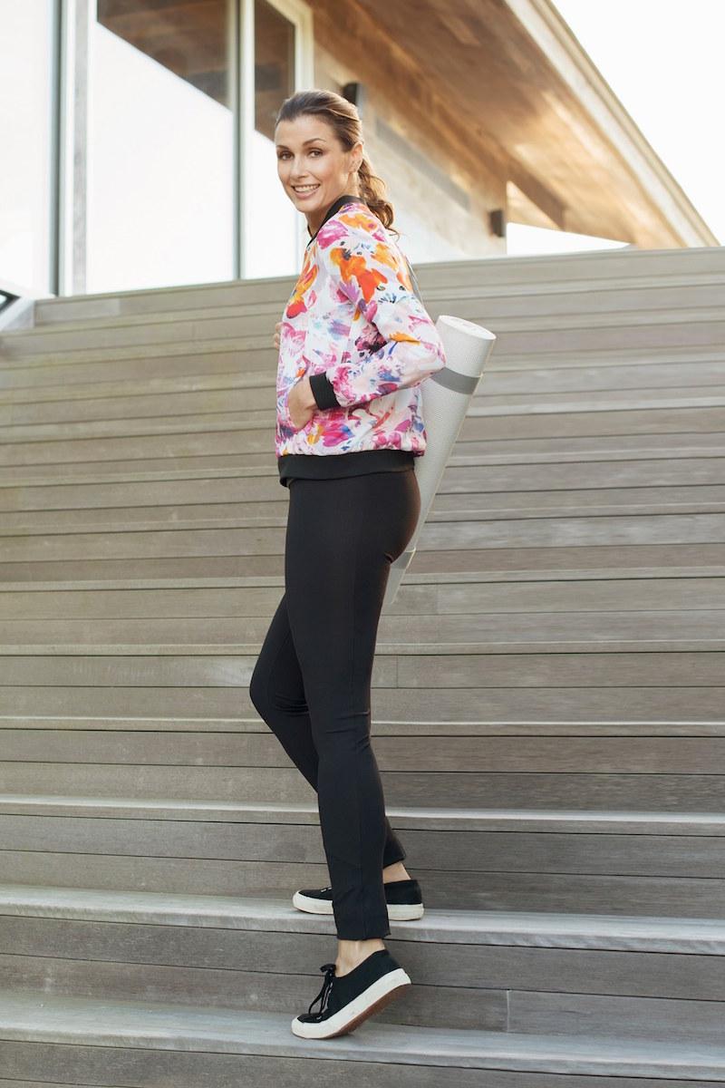 NYDJ Floral Print Bomber Jacket