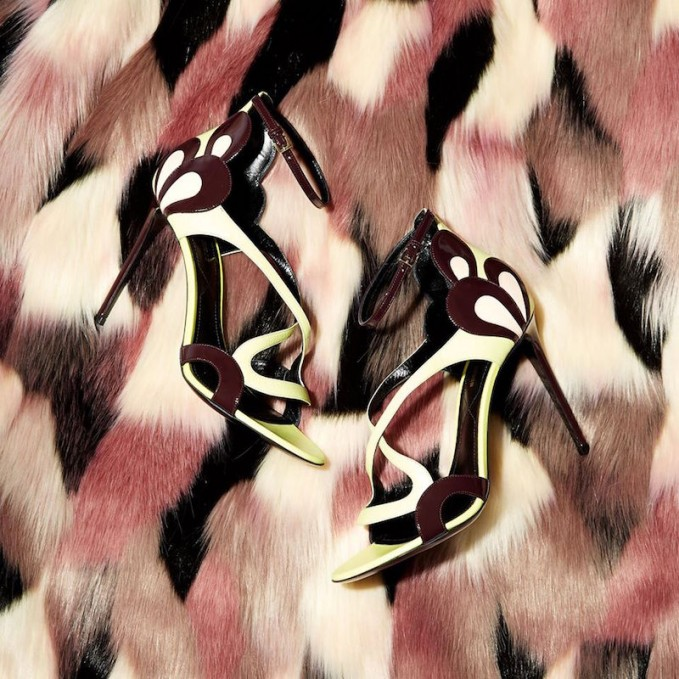 Nicholas Kirkwood Patent-petal Leather Sandals