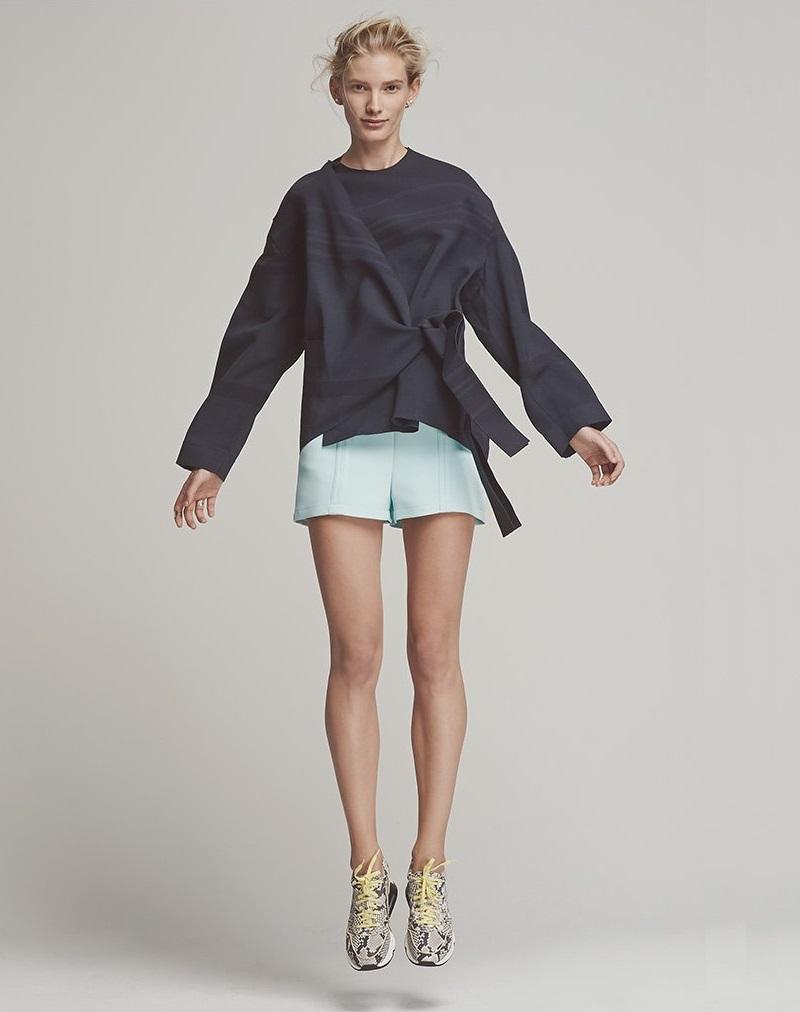 O'2nd Doji Line Detailed Shorts