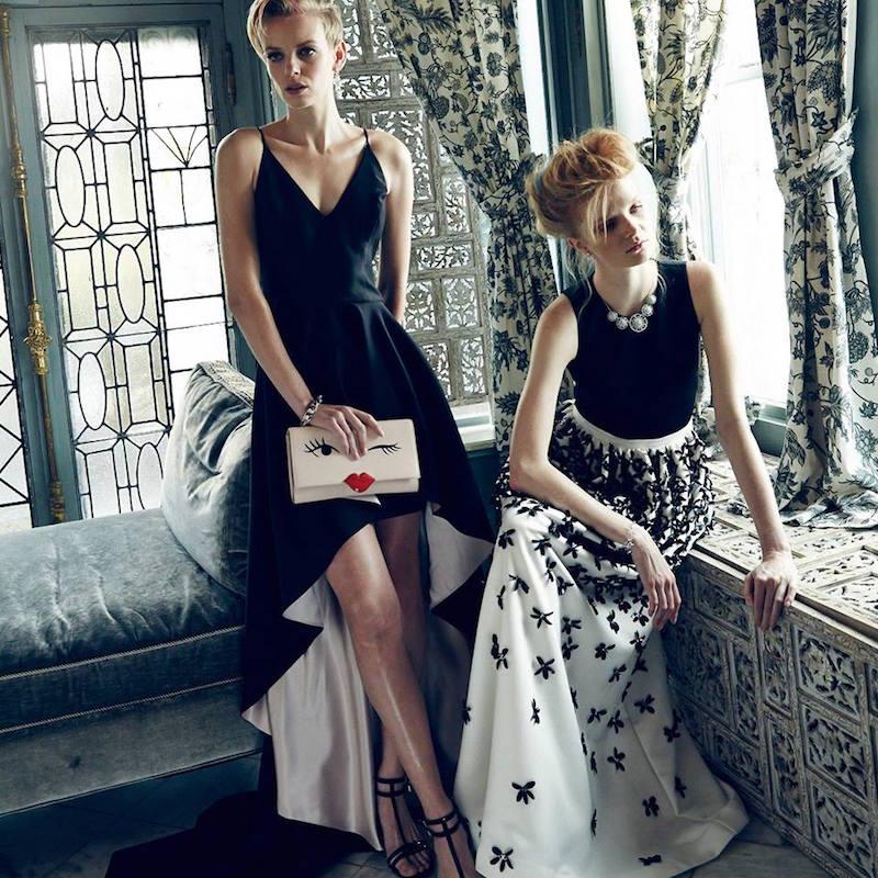 Parker Karmina Satin Crop Top & Lenore Beaded Floral Skirt