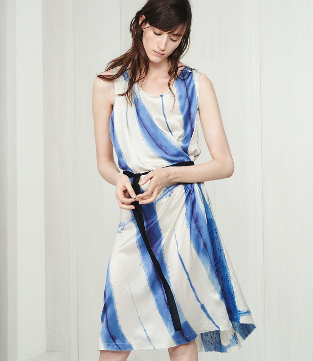 Pas de Calais Tie-Dye Wrap Dress