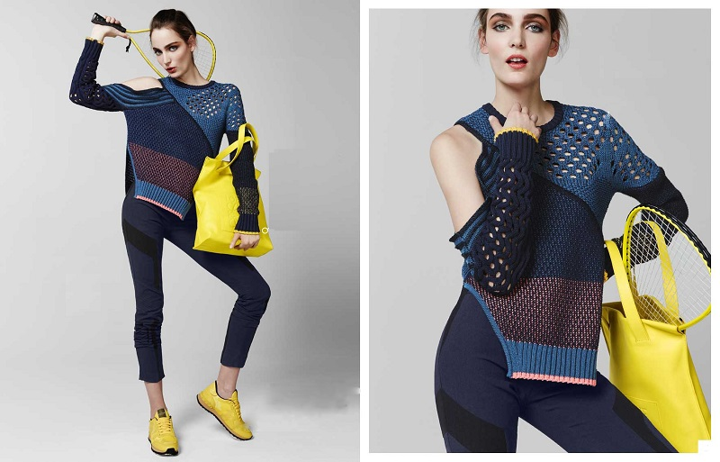 Prabal Gurung Cutout Colorblock Mixed-Knit Sweater