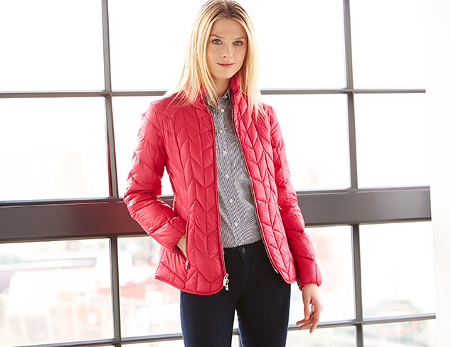 Quilted Jackets & Packable Trenches at MYHABIT