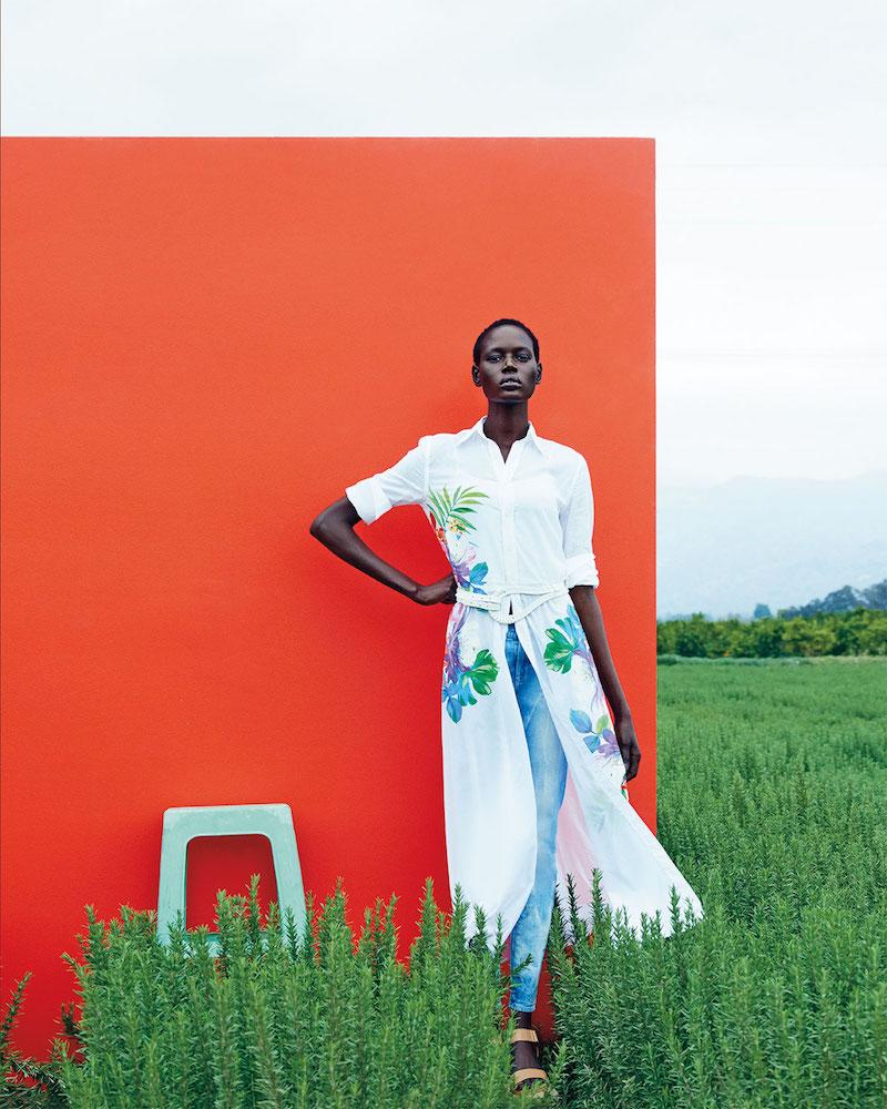 Ralph Lauren Black Label Adabella Floral-Print Shirtdress