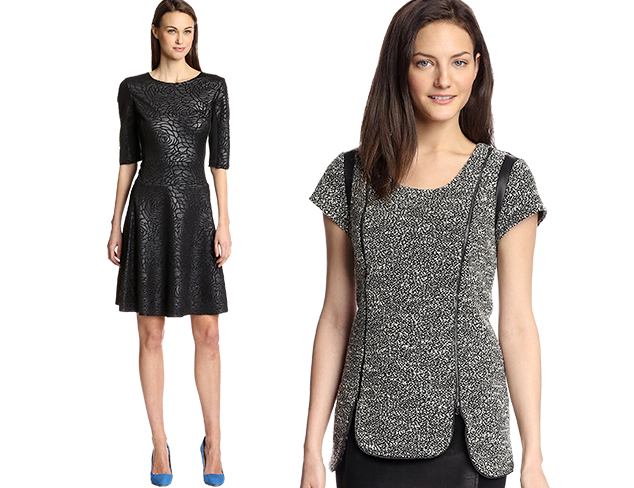 Real & Faux: Leather Dresses & Separates at MYHABIT