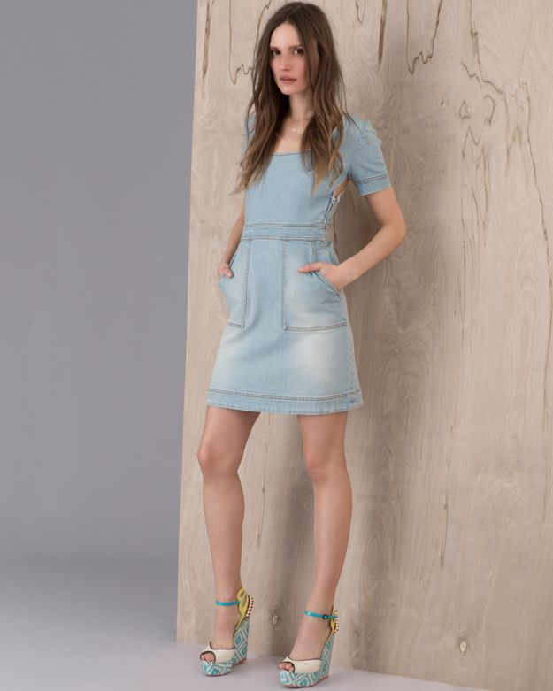 Stella McCartney Faded Denim Dress