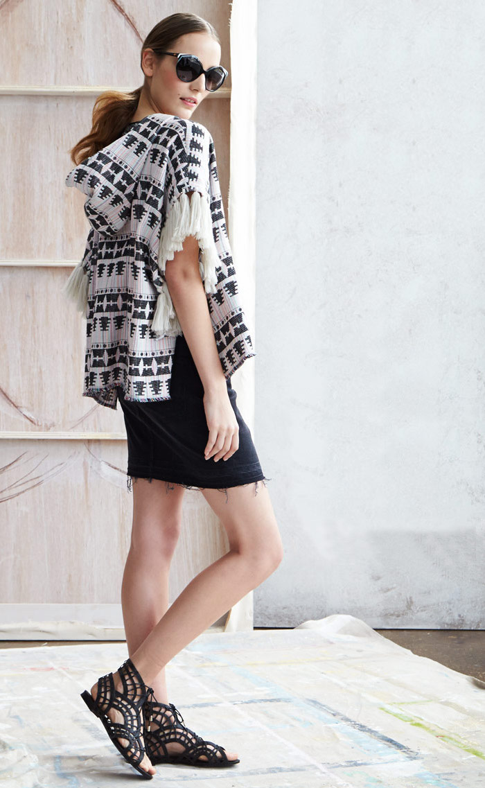Thakoon Addition Tribal-Pattern Tweed Pullover